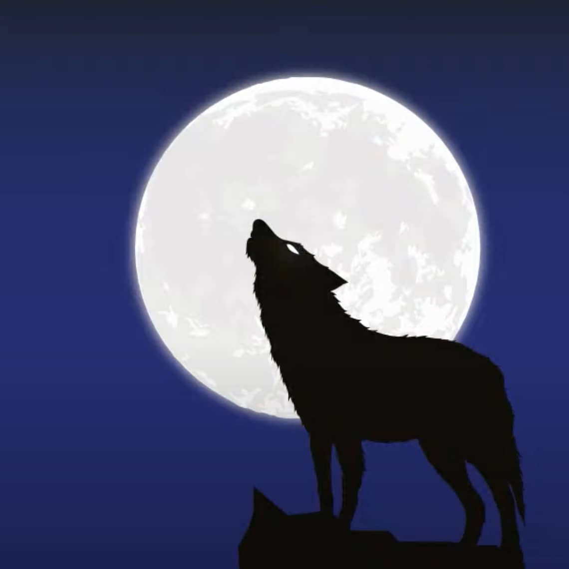 MacBite After Hours howling wolf logo.